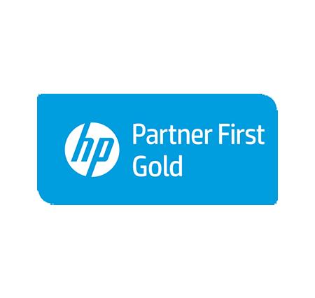 Logo HP - Partner First Gold